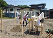8. 地鎮祭→着工→上棟→木工事完了 →内装工事→外構工事